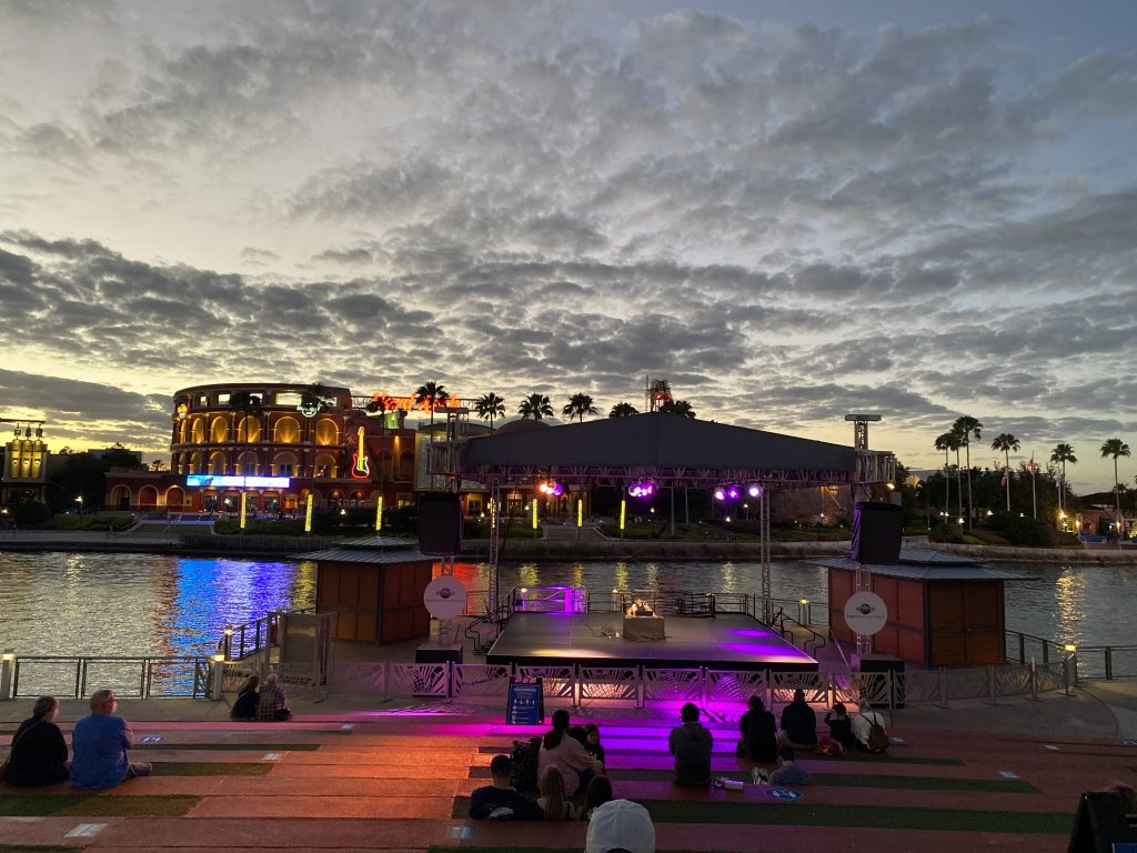 Sunset at Universal Studios